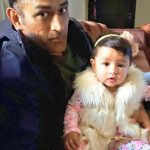 MS Dhoni with his daugher Ziva