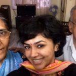 Maalavika Sundar with her parents