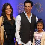 Madhur Bhandarkar with his wife and daughter