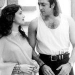 Madhuri Dixit with Sanjay Dutt
