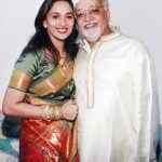 Madhuri Dixit with her father
