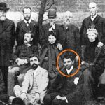Mahatma Gandhi (Seated Extreme Right) With The Members of Vegetarian Society