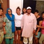 Mahavir Singh Phogat with his family