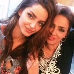 Mahlagha Jaberi with her mother