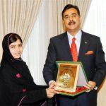 Malala Yousafzai with National Youth Peace Prize
