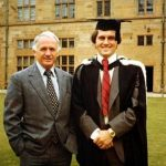 Malcolm Turnbull with his father Bruce during his Graduation