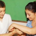 Manisha with her brother Siddharth on rakhi