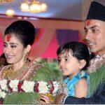 Manisha with her husband Samrat Dahal