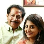 Manjima Mohan with her father