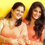 Manjima Mohan with her mother