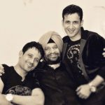 Manmeet Singh with his father and brother