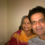 Manoj Bajpai with his Mother