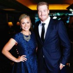 Martin Guptill with his wife