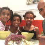Meb with his daughters