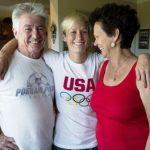 Megan Rapinoe with her parents