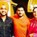 Mehtab Virk with Punjabi singer Surjit Khan and sister Navneet