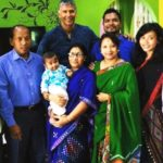 Ankita Konwar with her family and Milind Soman