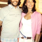 Milind Soman with Madhu Sapre