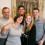 Milos Raonic with parents and siblings