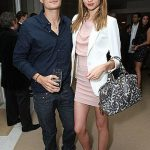 Miranda Kerr with her ex-husband, Orlando Bloom