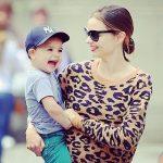 Miranda Kerr with her son, Flynn