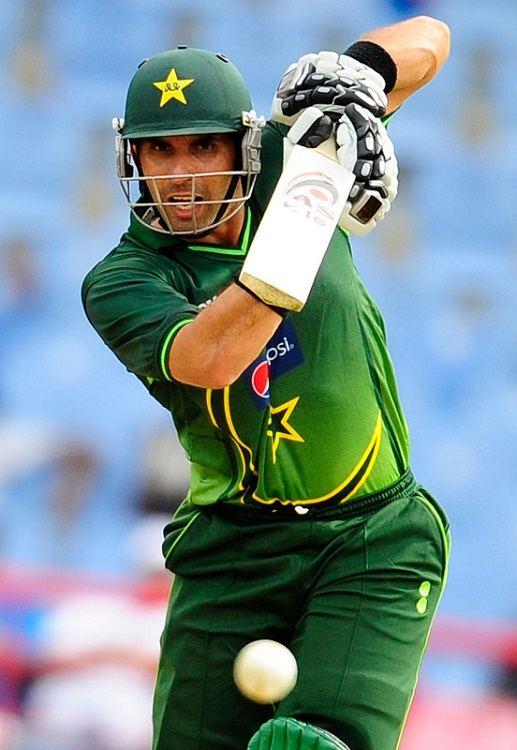 Misbah Ul Haq playing a shot