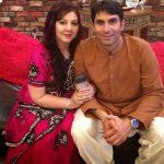 Misbah Ul Haq with his wife Uzma Khan