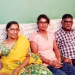 Mithali Raj with her parents