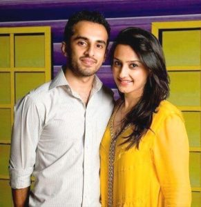 Momal Sheikh with her husband
