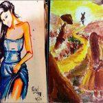 Mouni Roy paintings