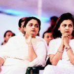 Anil Ambani sisters Nina (right) and Deepti (left)