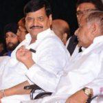 Mulayam Singh Yadav with his brother Shivpal Yadav