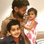 Murali Vijay with his children