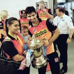 Naman Ojha with wife and daughter