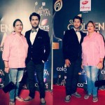 Namish Taneja with his mother