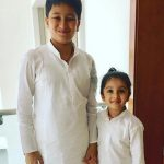 Namrata Shirodkar daughter Sitara and son Gautam Krishna Gattamaneni