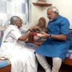 Narendra Modi with his mother Heeraben