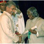 Naseeruddin Shah receiving the Padma Bhushan