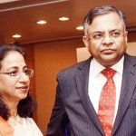 Natarajan Chandrasekaran with his wife