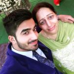 Navdeesh Arora with his mother