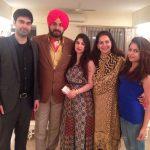 Navjot Kaur Sidhu with her family