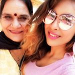 Neha Malik with her mother