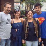 Nehalaxmi Iyer with her family
