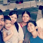 Nidhi Bisht with her Parents Brother, Sister-in-law & Niece