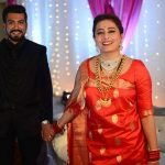 Nidhi Subbaiah with her husband