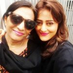 Nidhi Subbaiah with her mother