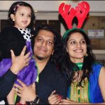 Nikhil Uzgare with wife and daughter