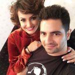 Nisha With her husband Karan Mehra