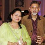 Nitin Tendulkar with his wife