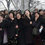 North Korean weeping on kim Jong ill death